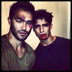 Tyler Hoechlin & Tyler Posey... Teen Wolf... Derek Hale, Scott McCall... Ware-wolves... Very HOT ones...