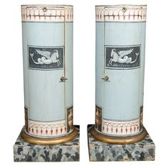 Pr. Neoclassical Style Hand Painted  Cabinets | From a unique collection of antique and modern cabinets at http://www.1stdibs.com/furniture/storage-case-pieces/cabinets/