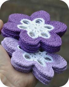Grietjekarwietje: Bloemenonderzetters paars&lila