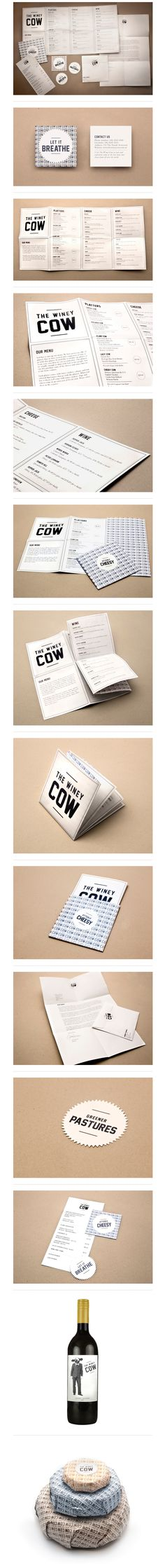 The Winey Cow #packaging #branding #marketing PD