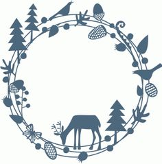 Silhouette Design Store: woodland deer papercut garland Design ID #67857