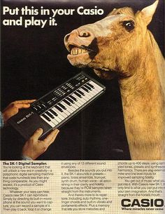 Casio SK-1 ad from the 80's