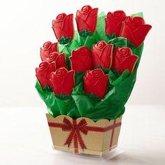 Rose Cookie Bouquet 12 koekjes 51 euro #williamssonoma
