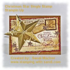 Christmas Star Post Card by SandiMac - Cards and Paper Crafts at Splitcoaststampers