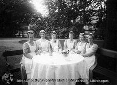 Sweden, Stockholm, the Royal Hospital of Queen Sophia. Sophia sisters - nurses educated at Sophiahemmet, Stockholm, Sophia Sophia, Queen Sophia, Nurse Uniforms, Vintage Nurse, Album, Female Fashion, Nurses, Stockholm, Sweden