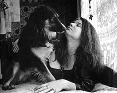 Janis Joplin and Pal     Uncredited and Undated photograph