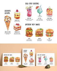 «Watercolor food illustrations»