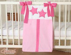 Pink diaper bag - stars / Bobono