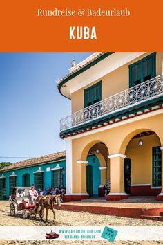 Kuba Reise mit Rundreise durch Westkuba und Badeurlaub in Varadero Varadero, Mansions, House Styles, Home Decor, Europe, Convertible, Tours, Destinations, Bathing