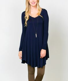 Look what I found on #zulily! Sawyer Cove Navy Ballet V-Neck Tunic by Sawyer Cove #zulilyfinds