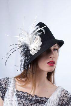 d6add5466c1 Items similar to Elegant black felt hat