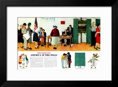 """""""Norman Rockwell Paints America at the Polls"""", November 4,1944 Giclee Print by Norman Rockwell at Art.com"""