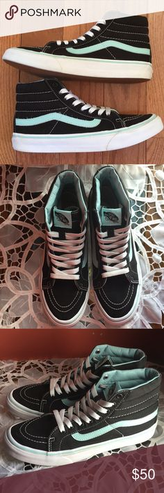 2e1946b203 Shop Women s Vans Black size 8 Sneakers at a discounted price at Poshmark.  Description  BRAND NEW CONDITION (faded heel logo) Size  U. Men s Baby Blue  ...