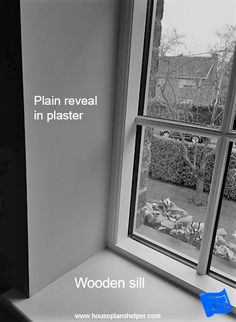 The window reveal is the walls immediately surrounding your windows and offers some interesting design opportunities. Blueprint Symbols, Floor Plan Symbols, Bay Window Design, Georgian Windows, Interior And Exterior Angles, Free Floor Plans, Window Reveal, Brick And Wood, Architrave