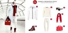 total white look to świetna propozycja na drugi lub trzeci dzień świąt. Dodatki w świątecznym, czerwonym kolorze świetnie podbiją biel i ożywią całość. Drodzy Panowie, nie zapominajcie też o okularach, które osłonią Wasze oczy :) Polyvore, Fashion, Moda, Fashion Styles, Fashion Illustrations