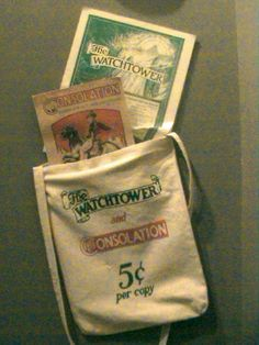 """.My favorite """"purse"""" as a child raised in 'the nurture and admonition of JEHOVAH'...I have such wonderful memories of doing the ministry with these bags and getting to talk to others about Jehovah, as a child...that was so amazing."""