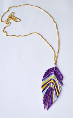 #diy feather necklace