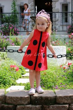Girls+Dress.+Ladybug+A+Line+Dress+for+Girls.+by+HappyLittleDress,+$39.00