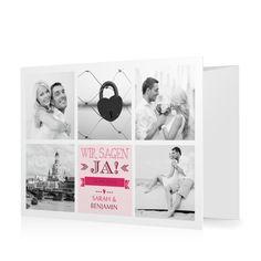 Hochzeitseinladung Mosaik in Sorbet - Doppelklappkarte flach gewickelt #Hochzeit #Hochzeitskarten #Einladung #Foto #kreativ #modern https://www.goldbek.de/hochzeit/hochzeitskarten/einladung/hochzeitseinladung-mosaik?color=sorbet&design=50&utm_campaign=autoproducts