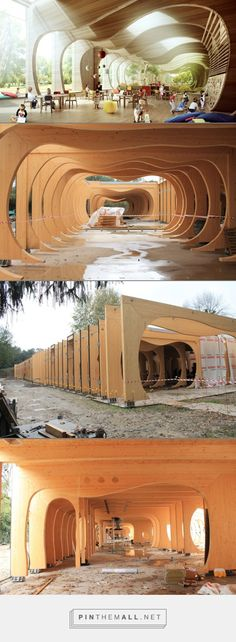 Wooden Kindergarten at Guastalla, Emilia Romagna,  reconstruction after earthquake by Mario Cucinella