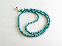 Handmade Blue Magnesite Eyeglass Chain Holder by HeavenlyChains on Etsy