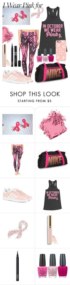 """""""I Wear Pink for..."""" by diamonds610 ❤ liked on Polyvore featuring Bobbi Brown Cosmetics, Asics, NIKE, adidas Originals, Napier, Beautycounter, NARS Cosmetics, Christian Dior, OPI and Casetify"""