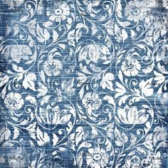 decorative blue-white patterns in retro style - Buy this stock illustration and explore similar illustrations at Adobe Stock Textiles, Textile Patterns, Textile Prints, Print Patterns, Surface Pattern, Surface Design, Papier Paint, Blue And White Fabric, White Fabrics