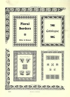Floral borders from Printing type specimens, comprising a large variety of book and jobbing faces, borders and ornaments ([1921?])