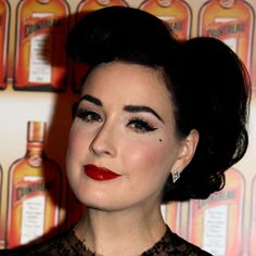 rockabilly makeup for junior prom; styled after the lovely dita von teese
