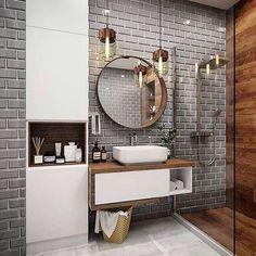 Best Bathroom Designs, Bathroom Trends, Modern Bathroom Design, Bathroom Interior Design, Modern Bathrooms, Farmhouse Bathrooms, Cool Bathroom Ideas, Small Luxury Bathrooms, Toilet And Bathroom Design