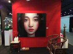 Zhang Xiang Ming, 'Beijing Girl, oil on canvas, 180 x 150 cm, Collection Galerie Kunstbroeders
