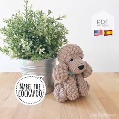 "Excited to share this item from my #etsy shop: AMIGURUMI PATTERN/ tutorial (English/Español) Amigurumi Cockapoo Dog - ""Mabel the Cockapoo Puppy"" pdf - US terminology Giraffe Crochet, Crochet Fox, Crochet Dolls, Crochet Pattern, Yarn Dolls, Cockapoo Puppies, Crochet Abbreviations, Amigurumi Tutorial, Amigurumi Patterns"