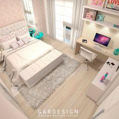 Small Room Design Bedroom, Teen Bedroom Designs, Bedroom Decor For Teen Girls, Room Ideas Bedroom, Home Room Design, Stylish Bedroom, Aesthetic Bedroom, Dream Rooms, Girl Room