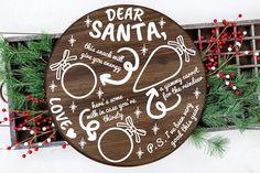 Christmas Plates, Christmas Svg, Christmas Cookies, Christmas Holidays, Funny Ornaments, Santa Ornaments, Cookies For Santa Plate, Cookie Tray, Types Of Printer