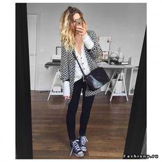 Удобный Casual с джинсами и брюками