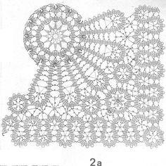 Filet Crochet, Crochet Diagram, Irish Crochet, Crochet Motif, Crochet Designs, Crochet Doilies, Crochet Lace, Bobbin Lace Patterns, Doily Patterns