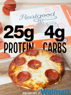 Delicious pizza with ONLY 4g Carbs! Available locally at Walmart & other stores.