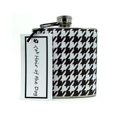Black and White Houndstooth  6 8 or 12 oz  by thehairofthedog, $19.00