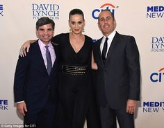 Supportive: George, Katy, and Jerry were happy to lend a helping hand to the David Lynch Foundation for the benefit concert on Wednesday
