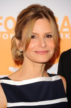 Kyra Sedgwick's Bobby-Pinned Updo - Haute Hairstyles for Women Over 50 - StyleBistro