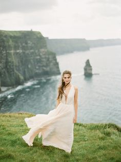 Wedding Inspiration at the Cliffs of Moher in Ireland
