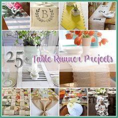 Table Runner Projects a Collection of 25  DIY's