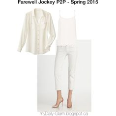 Jockey Person to Person - Spring 2015 - Chiffon Button Down, camisole and Classic Ankle Jean