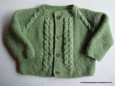 Lovely cardigan for baby 6 months old. Modelo 14 – Tricotar para peques – Knitting for kids Baby Boy Sweater, Knit Baby Sweaters, Boys Sweaters, Baby Cardigan, Knitting For Kids, Baby Knitting, Knitted Baby, Knit Cardigan Pattern, Knit Baby Dress