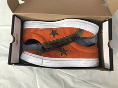 9ea1bc5081b CONVERSE One Star Suede Sneaker Mens Brown orange Size 9  fashion  clothing   shoes