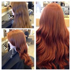 This is a beautiful transformation by Regina using the Matrix Socolor intense coppers @andreashogue