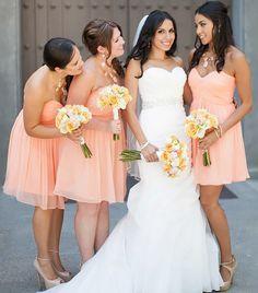Sweetheart Short Bridesmaid Dresses with Soft Pleats, Cute Chiffon Bridesmaid Gowns, Mini Length Pink Gowns for Bridesmaids,Sweetheart dress