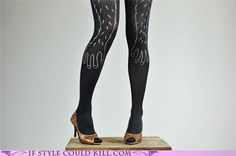 Yes, drawings of hairy arms on pantyhose are SO LOVELY. #fashion #WTF #hosiery #pantyhose #hairy