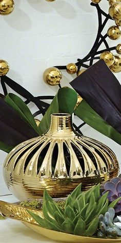 """gold home accessories"" ""gold home decor"" ""gold home accents"" By… Vases For Sale, Decorative Accessories, Home Accessories Stores, Decor Guide, Home Decor Online, Gold Decor, Home Decor, Gold Home Accessories, Gold Home Decor"