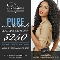 Indique clients and Partner Stylists, have you enrolled in Indique Rewards? If not, sign up ASAP so you can enjoy our PURE Bundle Deals starting tomorrow!
